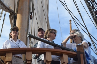 Captain Morgens, Steve White, Susan Funk & Nancy Richardson