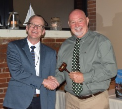 Passing the gavel - Dave & Greg