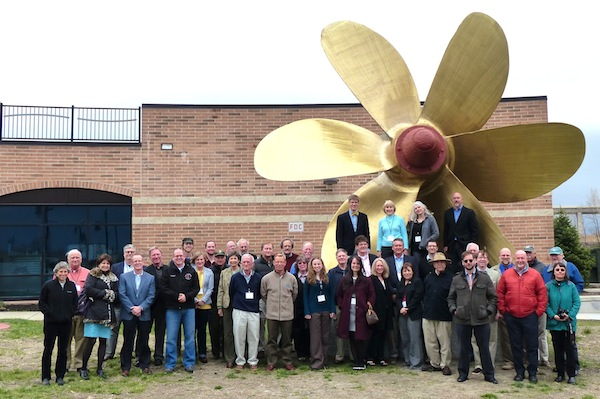 2014 CAMM meeting attendees in front of the National Museum of the Great Lakes, Toledo, Ohio