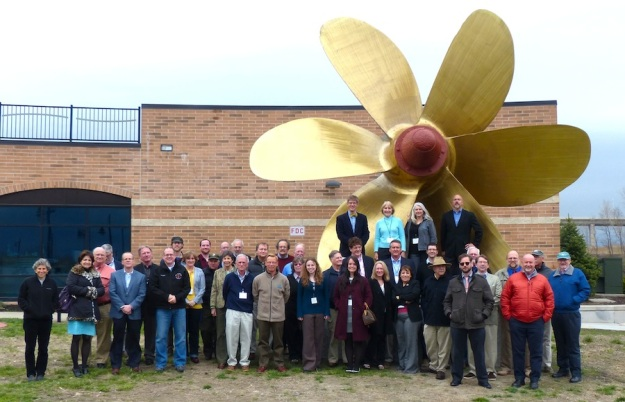Attendees at the 2014 CAMM meeting pose in front of the National Museum of the Great Lakes in Toledo, Ohio.