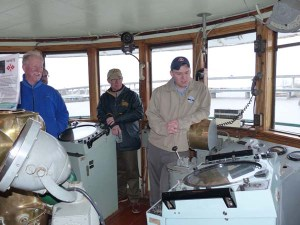 Ship Manager Paul LaMarre gives tour of the museum vessel SS COL. JAMES M. SCHOONMAKER