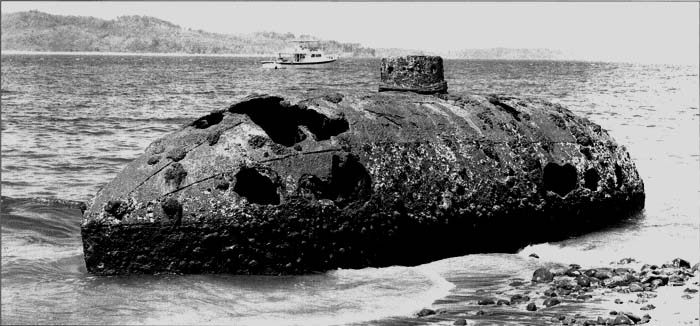View of the wreck at Isla San Telmo, 2004. Photo by Todd Croteau