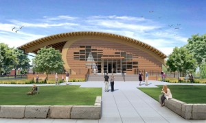 Rendering of the new exhibit hall courtesy Mystic Seaport