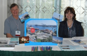 Paul Fontenoy and Marifrances Trivelli at September's Maritime Heritage Conference