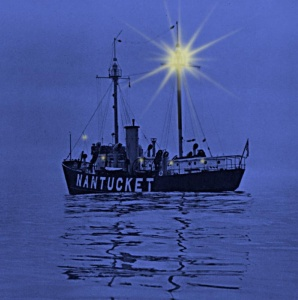 Lightship Nantucket (LV 112) in 1946. Image courtesy of the U.S. Lightship Museum